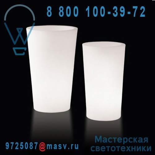 """LP XPT085A Vase lumineux d""""exterieur H83cm et O49cm - X-POT LIGHT Slide"""