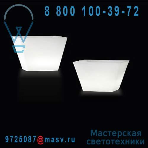 """LP PIR055A Vase lumineux d""""exterieur H50cm et l55cmxP55cm - Y-POT LIGHT Slide"""