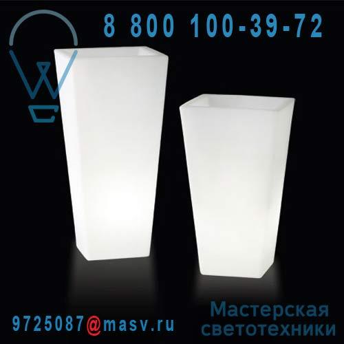"""LP PIR090A Vase lumineux d""""exterieur H90cm et l43cmxP43cm - Y-POT LIGHT Slide"""