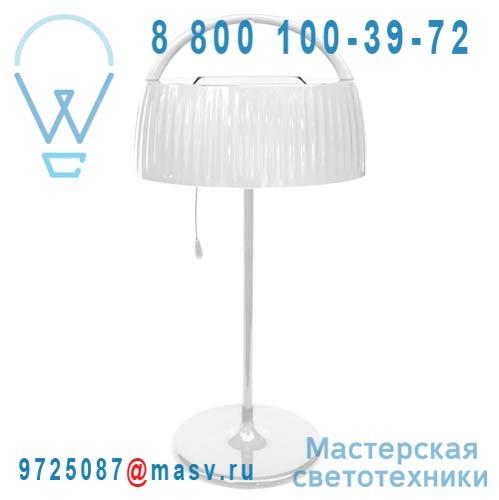 """401.107 Lampe a poser d""""exterieur solaire Blanc - RETRO POP Watt & Home"""