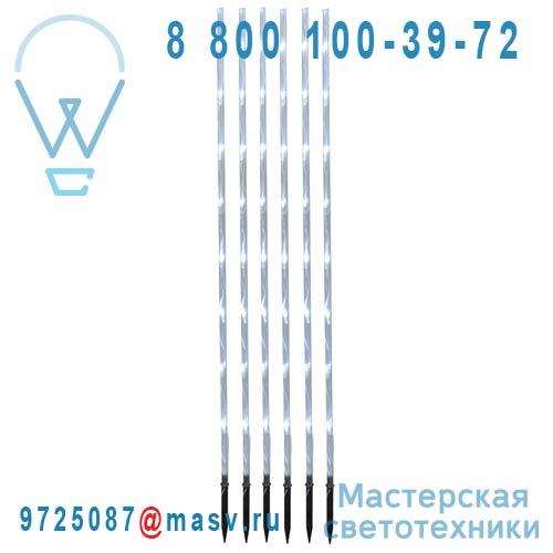 859-55 Kit de 6 batons LED Exterieur Blanc froid - GARDEN STICK Xmas Living Glass