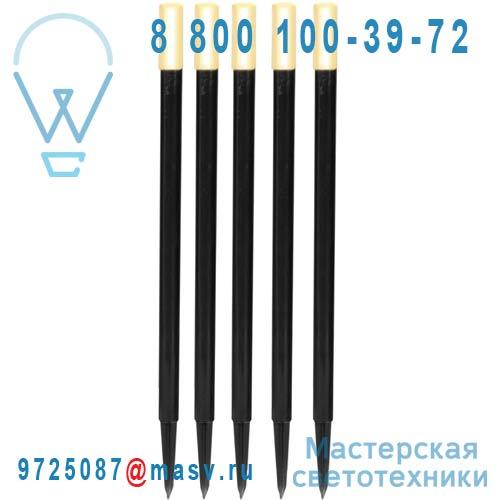 859-10 Kit de 5 Bornes LED Exterieur - PATH LIGHT Xmas Living Glass