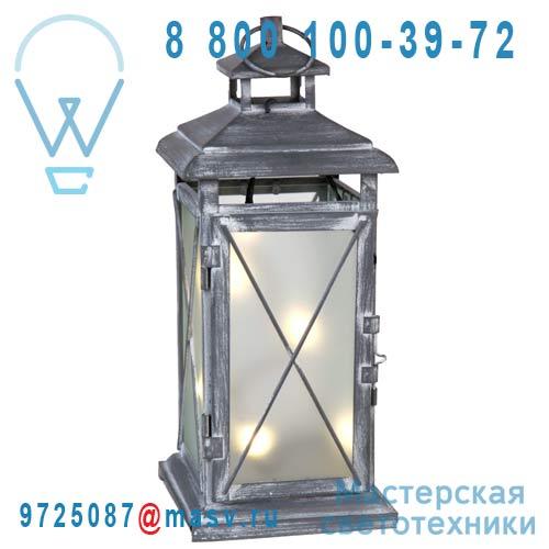 861-04 Lanterne LED 30 Exterieur Gris - STALLIS Xmas Living Glass