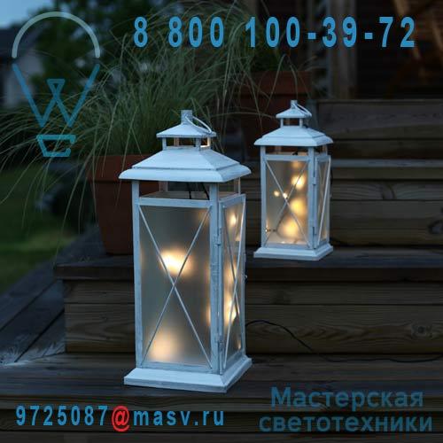 861-07 Lanterne LED 45 Exterieur Blanc - STALLIS Xmas Living Glass