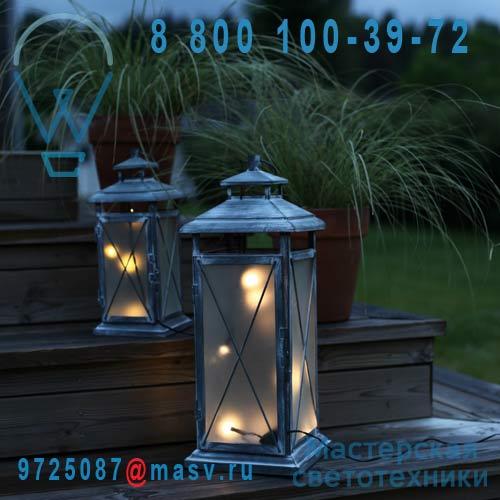 861-05 Lanterne LED 45 Exterieur Gris - STALLIS Xmas Living Glass