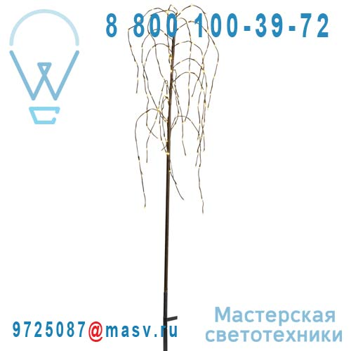 860-16 Arbre LED Exterieur M - WEEPING WILLOW Xmas Living Glass