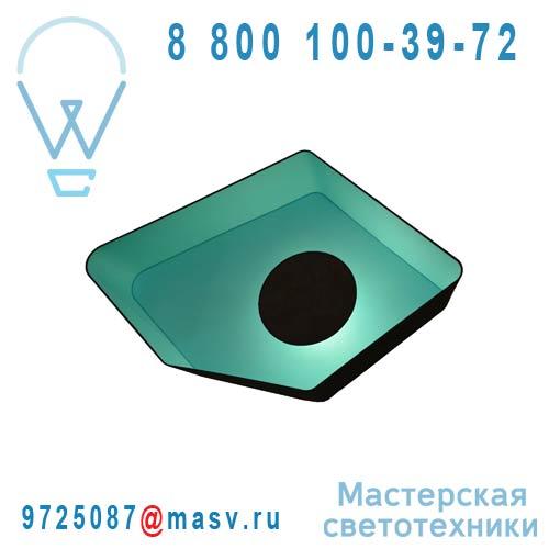 PI90nmt Plafonnier Marron/Turquoise - PETIT NENUPHAR DesignHeure