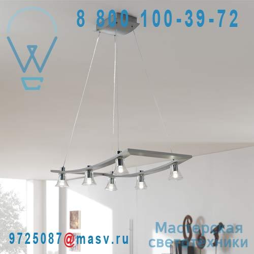 405964810 Suspension LED 6 Diffuseurs - GARAUDY Massive