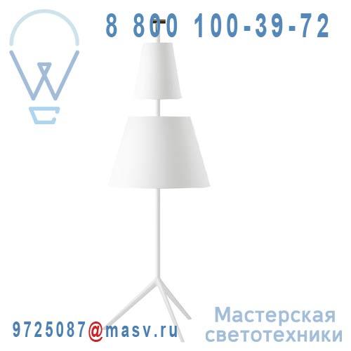 360302500 + 860582500 + 860482500 + 660300100 Lampadaire Blanc L - BASTONE Metalarte