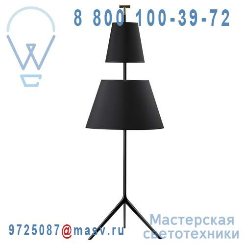 360304700 + 860584700 + 860484700 + 660300100 Lampadaire Noir L - BASTONE Metalarte