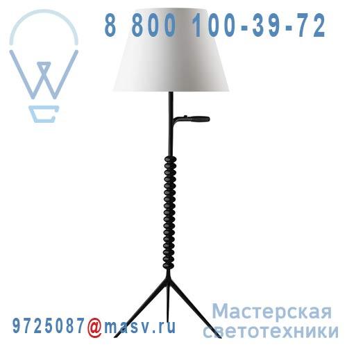360604701 + 661000001 + 860782500 Lampadaire Noir/Blanc S - BASTONE Metalarte
