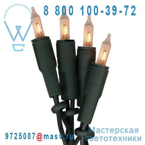 424-55 Guirlande 100 Ampoules Blanc 16,35m - BASIC Xmas Living Glass