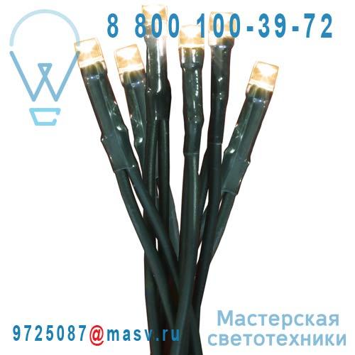 424-20 Guirlande 80 Ampoules Blanc 13,3m - D LED Xmas Living Glass