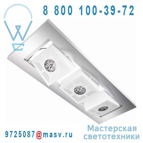 4008321989307 Plafonnier LED Argent - TRESOL CUBE TRIO Osram
