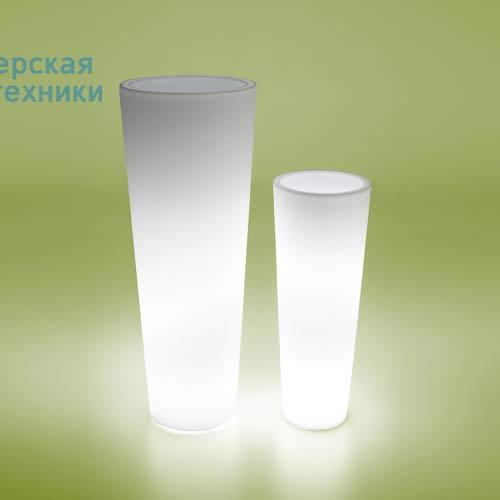 """NEW POT ALTO STANDARD Pot lumineux d""""exterieur Neutre - NEW POT HIGH LIGHT Serralunga"""