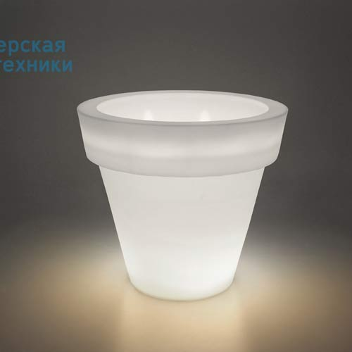 "VASONELUCN Pot lumineux d""exterieur Neutre - VAS-ONE LIGHT Serralunga"