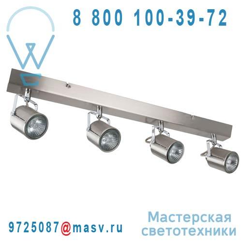88090 Alu brosse Barre 4 Spots Aluminium - LOFT Corep