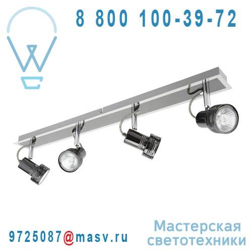 3276004386649-69070512 Barre de 4 Spots Chrome Noir/Argent - BILA Inspire