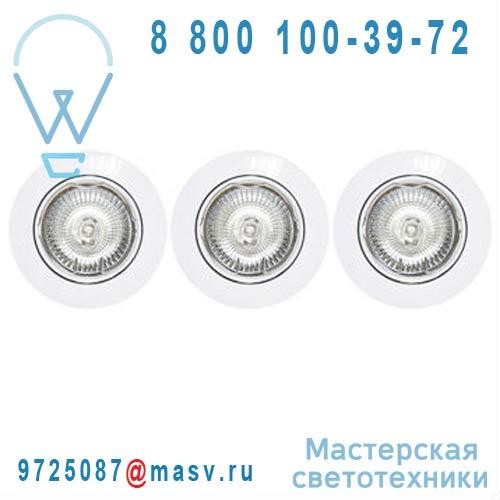 3276200101800 - 67628526 3 spots encastrables orientables Blanc - CLANE Inspire