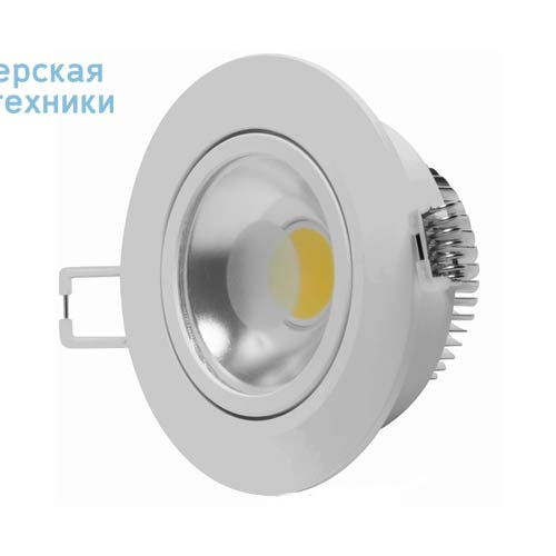 DEC/DLCOB-5W Spot encastrable orientable LED S Blanc froid - COB Lumihome