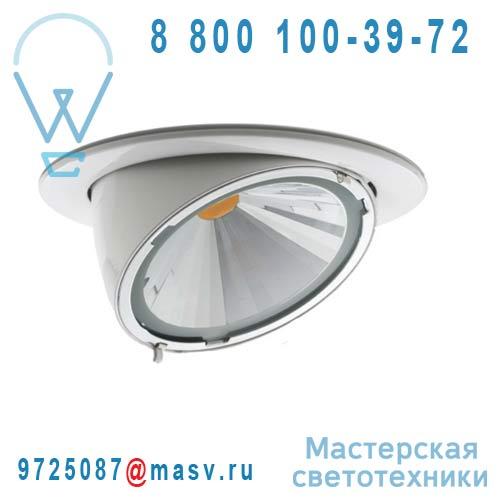 03422131031 Spot LED orientable a encastrer Blanc - BEND 26 Oggi Luce