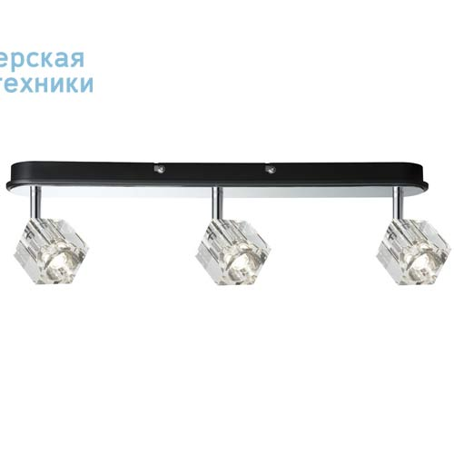 60168 Barre de 3 spots LED - ICE CUBE Paulmann