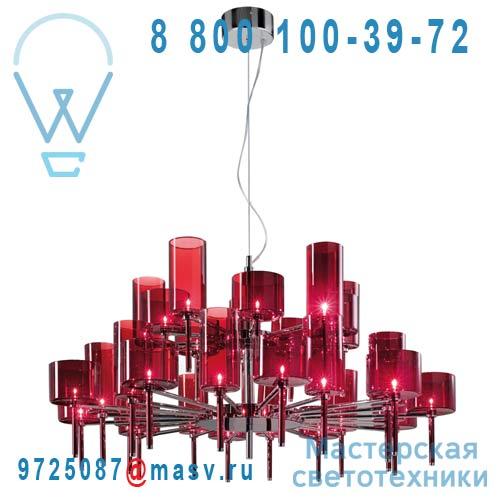 SPSPIL30RSCR12V Lustre rond 30 Lumieres Rouge - SPILLRAY AXO Light
