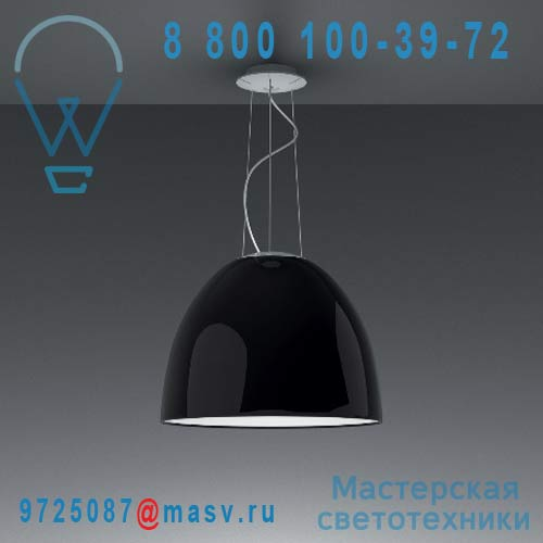 A242110 Suspension Noir Laque - NUR Artemide