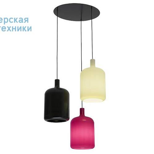 Suspension 3 Bulb Noir/Blanc/Rose fil et plafonnier noir Suspension Noir/Blanc/Rose - 3 LAMPES B