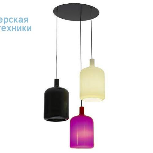 Suspension 3 Bulb Noir/Blanc/Violet fil et plafonnier noir Suspension Noir/Blanc/Violet - 3 LAMP