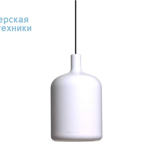 Suspension Bulb Blanc fil et plafonnier noir Suspension Blanc - LAMPE BULB Bob Design