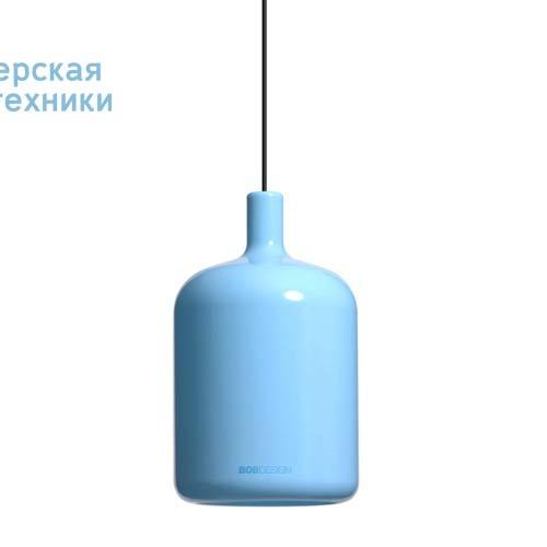 Suspension Bulb Bleu fil et plafonnier noir Suspension Bleu - LAMPE BULB Bob Design