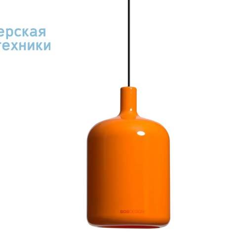 Suspension Bulb Orange fil et plafonnier noir Suspension Orange - LAMPE BULB Bob Design