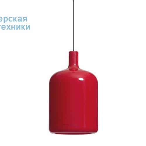 Suspension Bulb Rouge fil et plafonnier noir Suspension Rouge - LAMPE BULB Bob Design