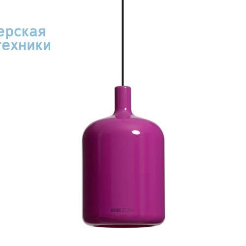 Suspension Bulb Violet fil et plafonnier noir Suspension Violet - LAMPE BULB Bob Design