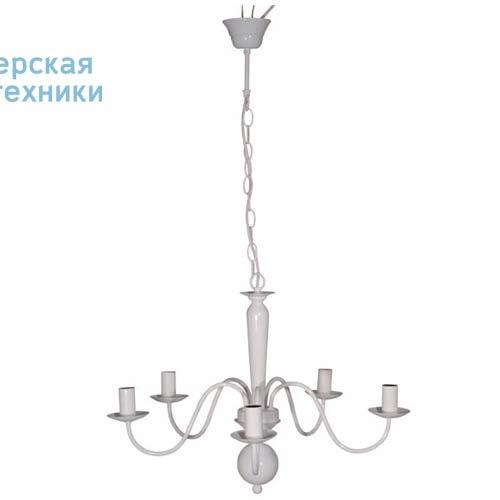 78036 Blanc Lustre 5 Lampes Blanc - CHEVERNY Corep