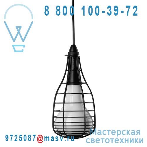LI0278 10 E Suspension Noir - CAGE MIC Foscarini