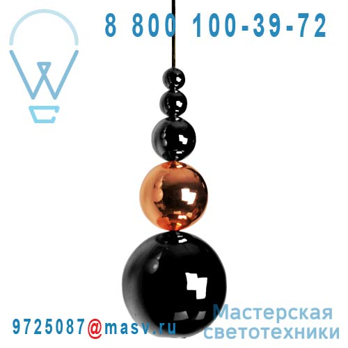 PB05911062 Suspension Noir & Cuivre - BUBBLE Innermost