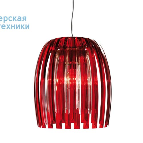 1933536 Suspension Rouge Transparent/Transparent O50cm - JOSEPHINE Koziol