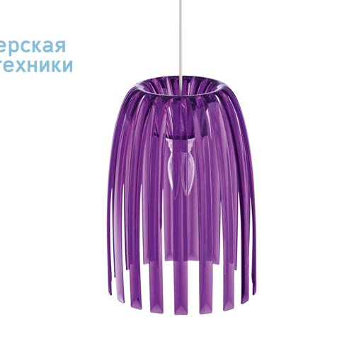 1936549 Suspension Violet Transparent O21,8cm - JOSEPHINE Koziol