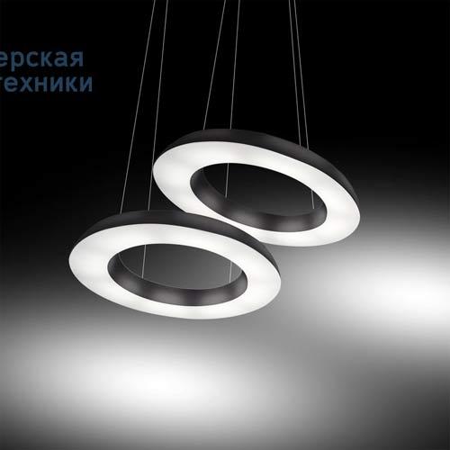 2057/DIM/NE Suspension Noir O150cm - CIRCULAR POL Martinelli Luce