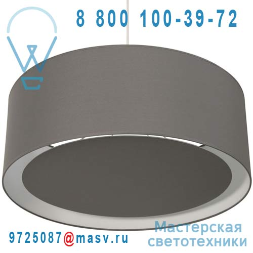 1222300/088 Suspension occultant O60cm Gris Galet - ESSENTIEL Metropolight