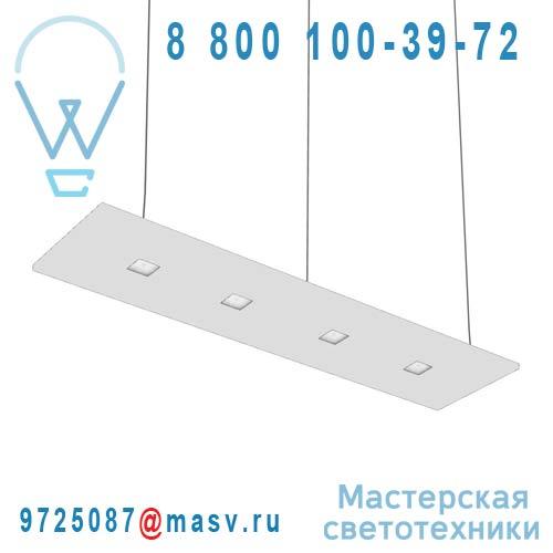 100-20C120.30N0BL + 100-00271 Suspension Blanc Neutre 120cm - LARIS Nowleds