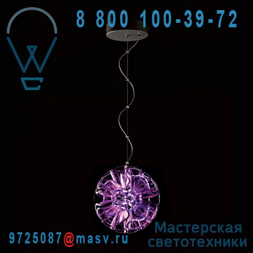 CR01-P VI / 9H.W1KQD.WQ3 Suspension LED Violet - CORAL BALL QisDesign