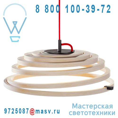 16 8000 02 Suspension Bois Fil Rouge - ASPIRO Secto Design