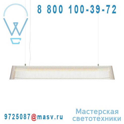 16 7000 01 Suspension Bois Blanc LED - OWALO Secto Design