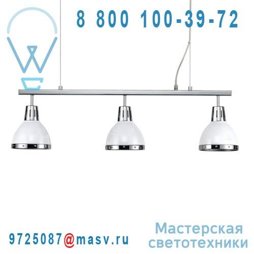 0124111 Barre 3 Suspensions Blanc/Chrome - CYNTHIA Seynave