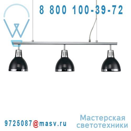 0124418 Barre 3 Suspensions Noir/Chrome - CYNTHIA Seynave