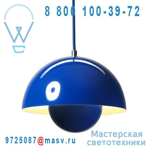 20709301 Suspension Bleu O23cm - FLOWERPOT & Tradition