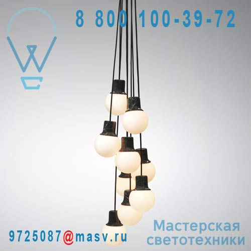 20610900 Suspension Marbre 9 lumieres - MASS LIGHT & Tradition